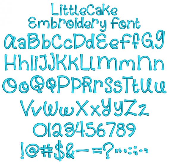Little Cake Embroidery Font