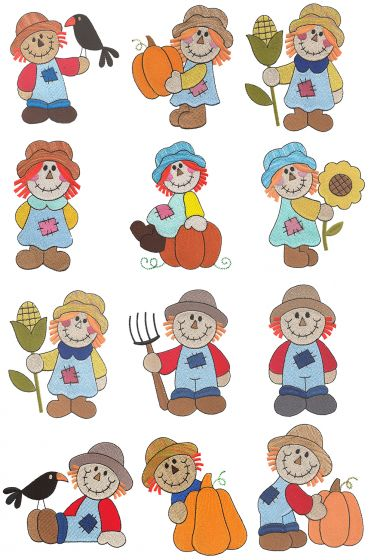 Cute Scarecrows Filled