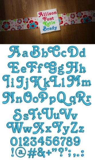 Allison Embroidery Font