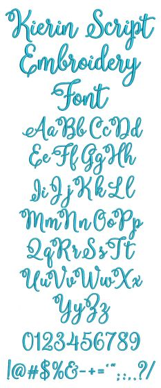 Kierin Script Embroidery Font Machine Embroidery Designs by JuJu