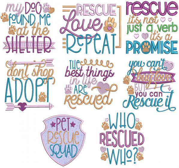 Pet Rescue Word Art