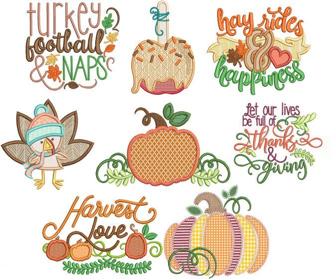 Harvest Fun 3 Machine Embroidery Designs By JuJu
