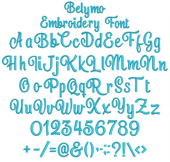 Belymo Embroidery Font Machine Embroidery Designs By JuJu