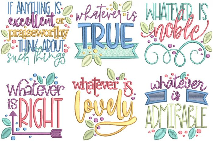 Think About Such Things Word Art