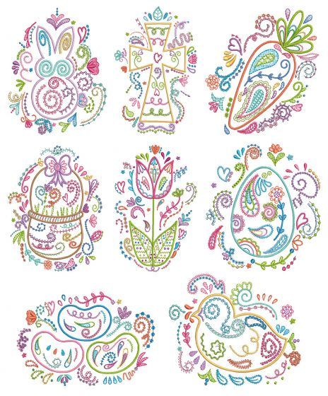 Easter Doodles Machine Embroidery Designs By JuJu