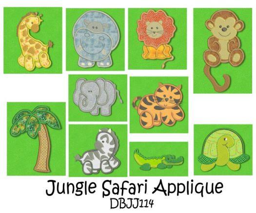 Jungle Safari Sweeties Applique 4x4