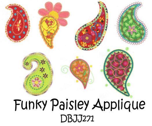Funky Paisley Applique