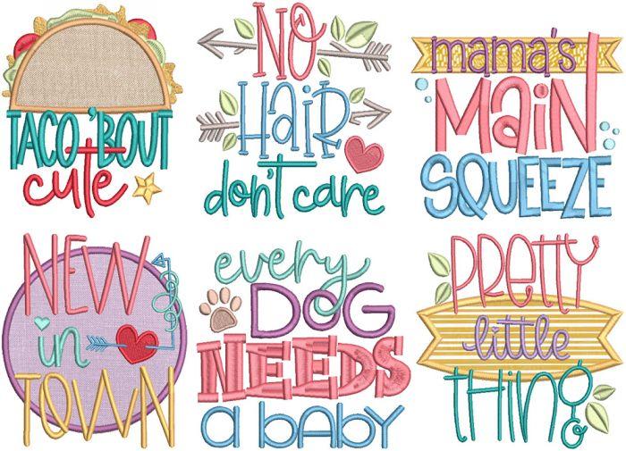 New Baby Word Art 2 Digital Machine Embroidery Designs by JuJu