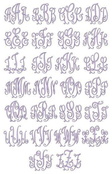 Dazzling Monogram Machine Embroidery Designs By JuJu