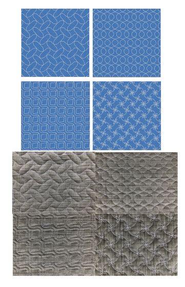 Sashiko Quilt Blocks 3 Machine Embroidery Designs by JuJu