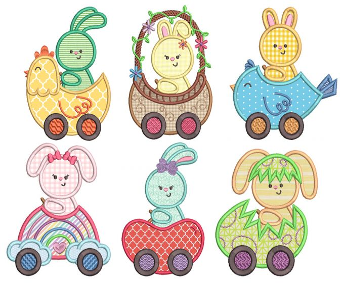 Easter Vroom Applique 1
