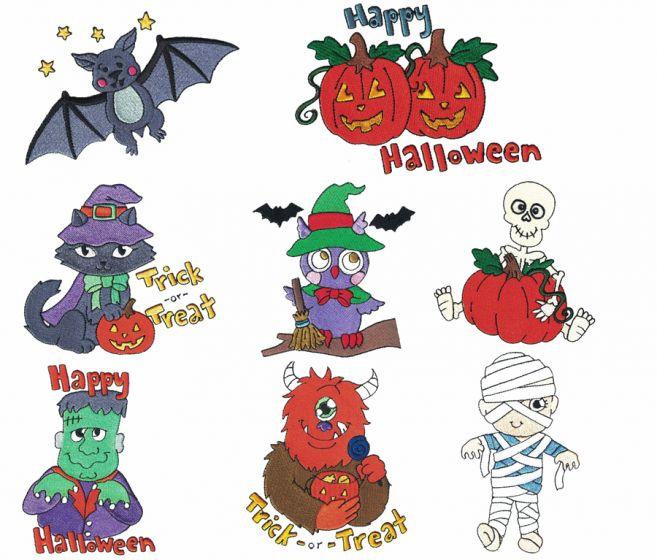 Treats n Tricks Halloween Filled Machine Embroidery Designs by JuJu