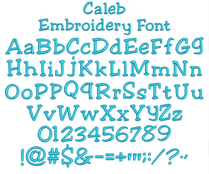 Caleb Embroidery Font Machine Embroidery Designs by JuJu