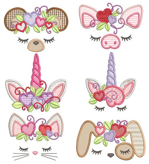 Valentine Toppers Machine Embroidery Designs By JuJu