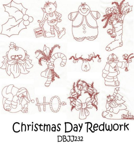 Christmas Day Redwork
