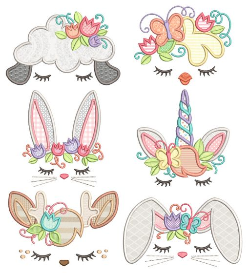 Easter Toppers Machine Embroidery Designs By JuJu