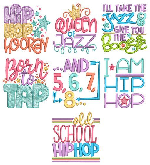 Tap Jazz Word Art 1 Machine Embroidery Designs By JuJu