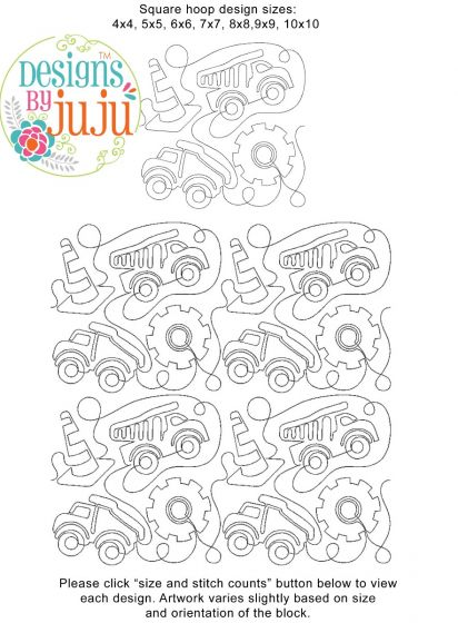 Construction End-to-End Quilting Embroidery Design