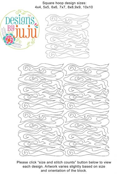 Woodgrain 2 End-to-End Quilting Embroidery Design