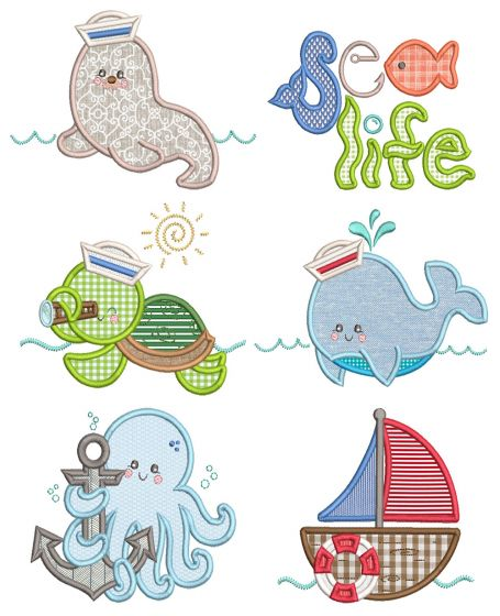 Sweet Nautical 1 Machine Embroidery Designs By JuJu