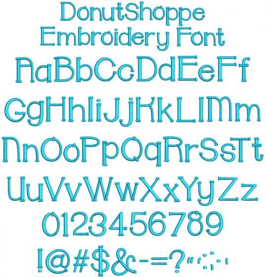Donut Shoppe Embroidery Font Machine Embroidery Designs By JuJu