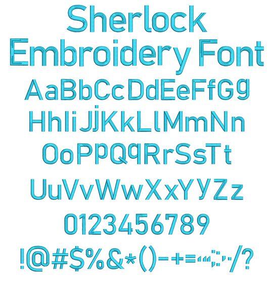 Sherlock Embroidery Font