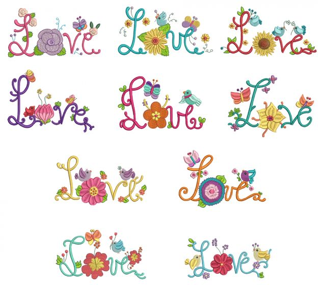 Summer Love Machine Embroidery Designs by JuJu