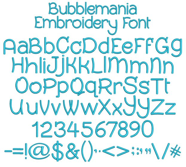 Bubblemania Embroidery Font Machine Embroidery Designs by JuJu
