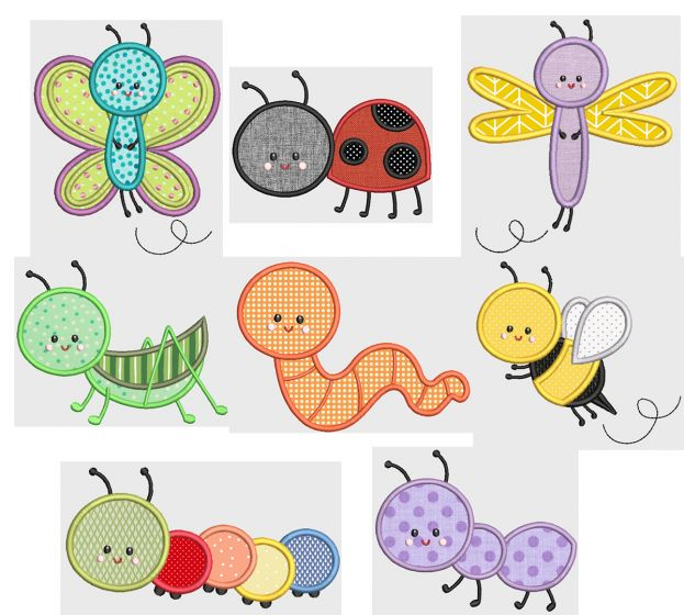 Cute Bugs Applique