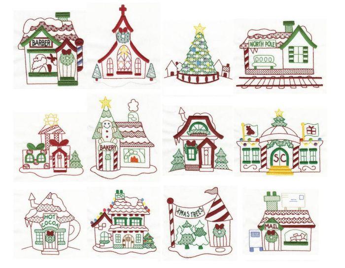 North Pole Village Colorwork Set 2