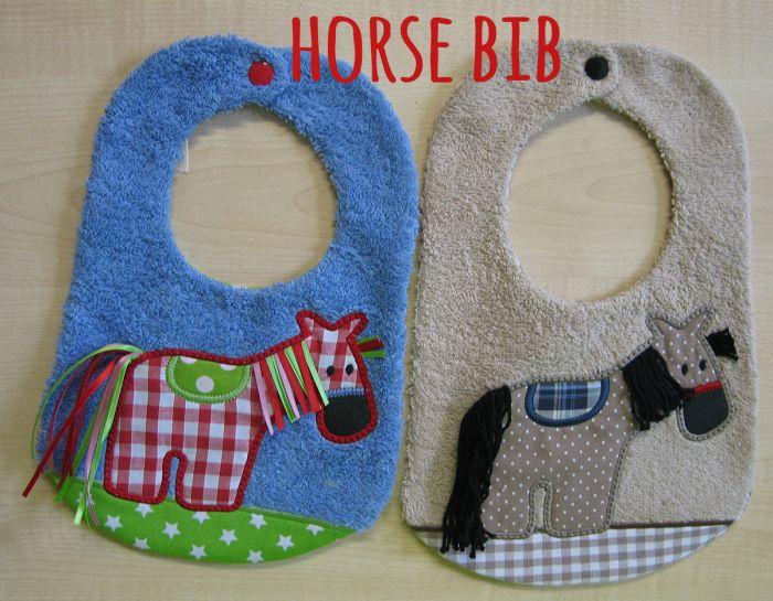 Cute Horse Bib
