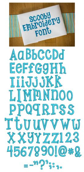 Scooby Embroidery Font Machine Embroidery Designs by Juju Monograms and Alphabets