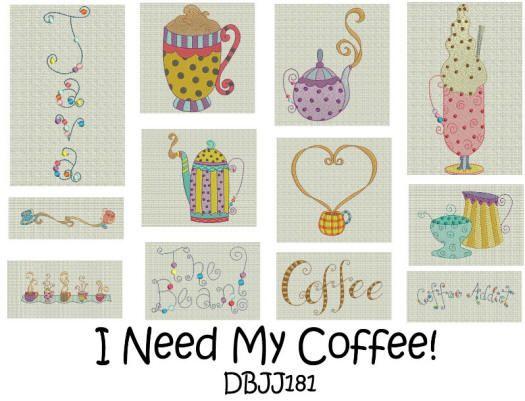 I Need My Coffee! 4x4 and 5x7