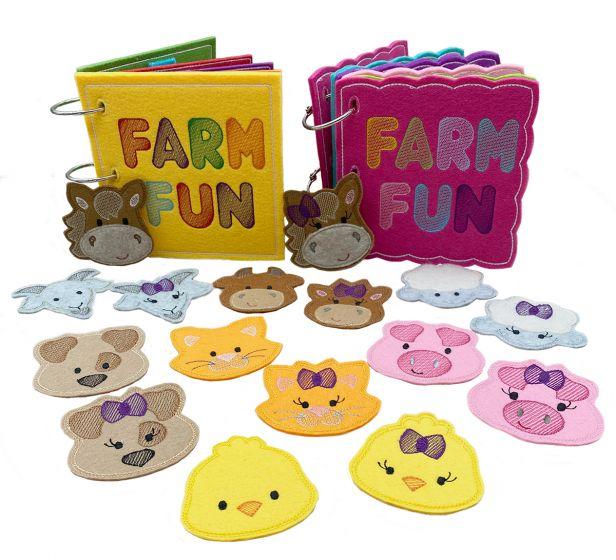 5x7 Farm Fun Busy Books