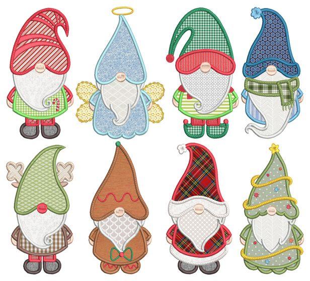 Christmas Gnomes Applique 2