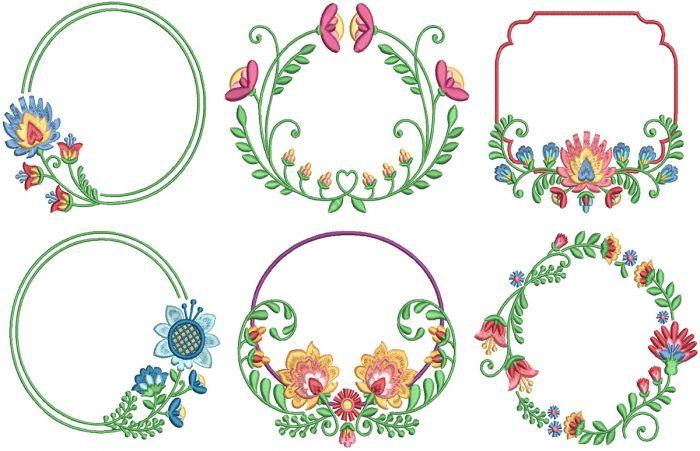 Floral Wreath Frames 2