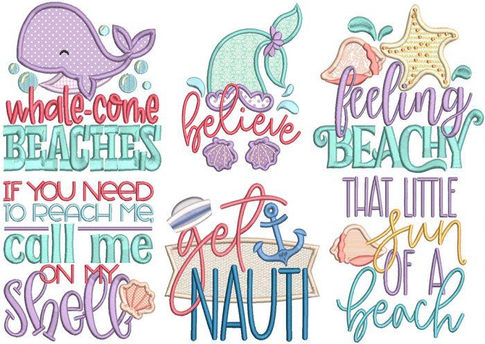 Sassy Seaside Word Art 1
