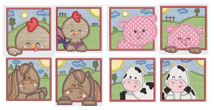 Farm Animal Squares 1
