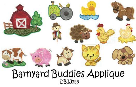 Barnyard Buddies Applique