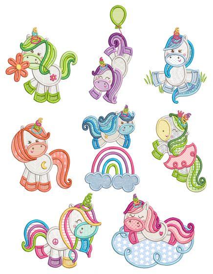 Sweet Unicorns Machine Embroidery Designs By JuJu