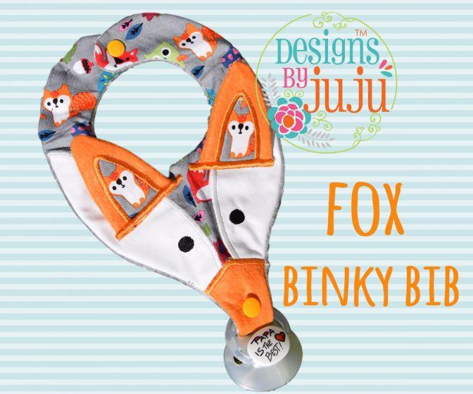 Fox Binky Bib