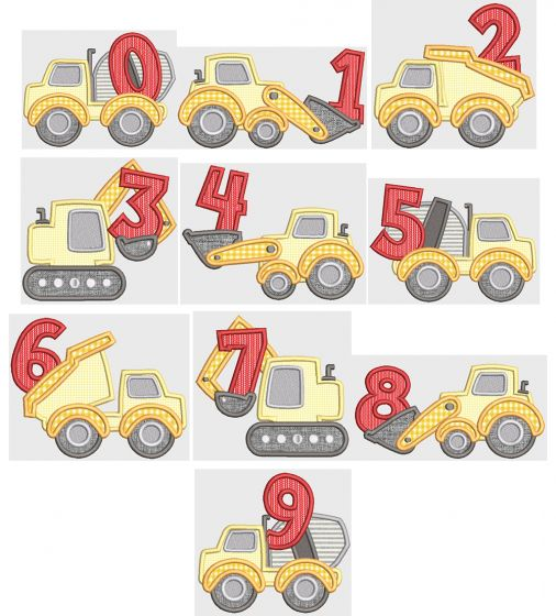 Construction Zone Numbers