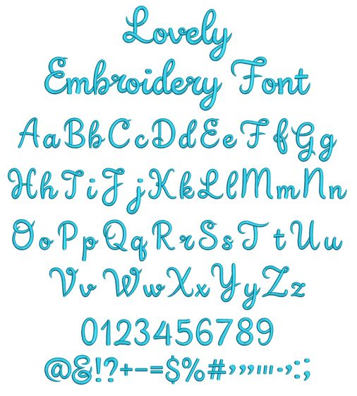 Lovely Script Embroidery Font