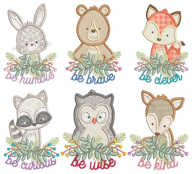 Be Kind Critters Machine Embroidery Designs By JuJu
