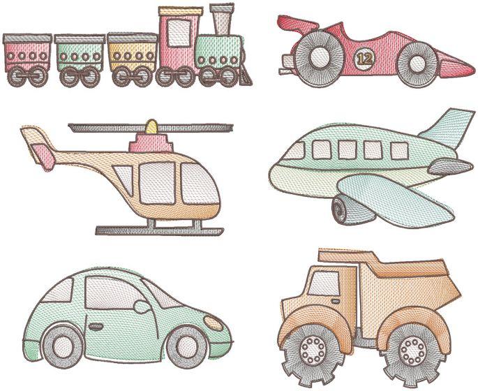 Vintage Sketch Transportation