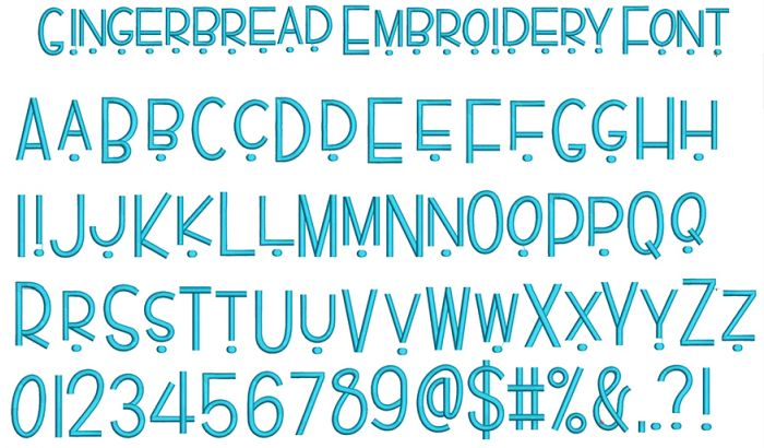 Gingerbread Embroidery Font Machine Embroidery Designs By JuJu