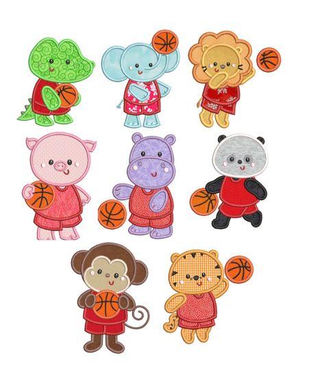 Basketball Animals Applique