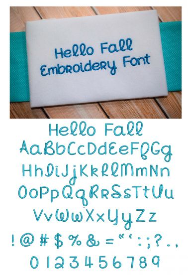 Hello Fall Embroidery Font Machine Embroidery Designs by JuJu