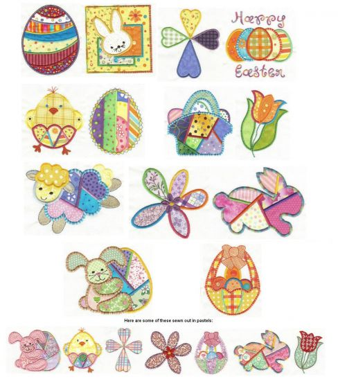 Easter Patchwork Applique