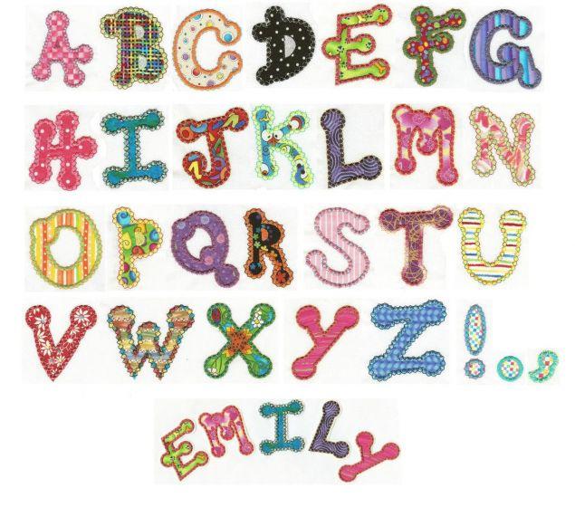 Dotty Applique Alphabet